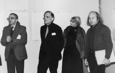 Od lewej dyr. Ryszard Stanisławski (ms), Oskar Reutersvärd z żoną, Zenon Kulpa