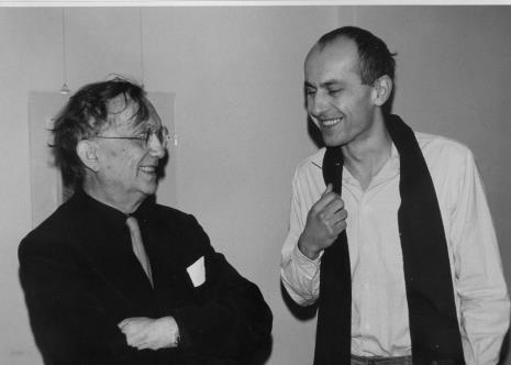 Oskar Reutersvärd i Jaromir Jedliński (Dział Grafiki i Rysunku  Nowoczesnego)