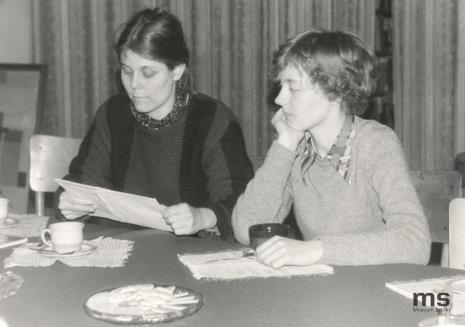 Spotkanie w czytelni biblioteki ms