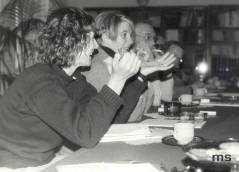 Od lewej A. Scott, Patricia Douthwaite, x