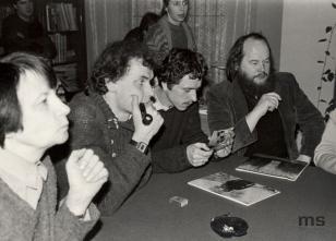 Wykład Günthera Demniga w czytelni biblioteki Działu Dokumentacji Naukowej