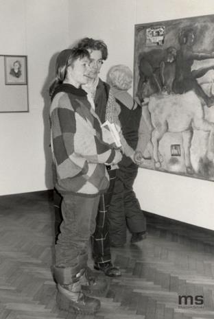 Wizyta Richarda Demarco z grupą artystów, krytyków i historyków sztuki z Wielkiej Brytanii i Kanady oraz performance Ann Seagrave w sali odczytowej
