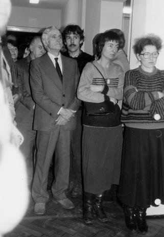 Od lewej częściowo zasłonięty Zdzisław Konicki (Archiwum Państwowe w Łodzi), architekt Bolesław Kardaszewski (Politechnika Łódzka)