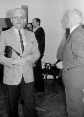 Z lewej architekt Bolesław Kardaszewski (Politechnika Łódzka)