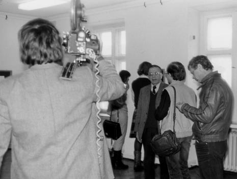 Dyr. Ryszard Stanisławski (ms) udziela wywiadu TVP
