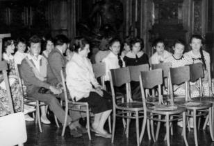 Uczestnicy konkukrsu w sali odczytowej ms
