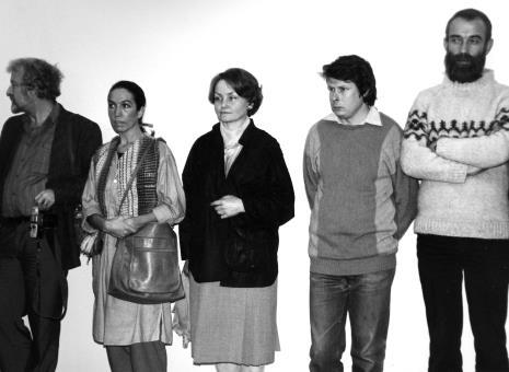 Artyści z grupy Hajnówka, pierwszy z prawej Adam Żach