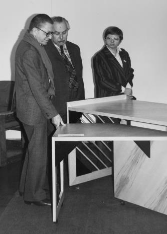 Od lewej dyr. Ryszard Stanisławski (ms) i Ryszard Brudzyński (Federacja Stowarzyszeń Kulturalnych)