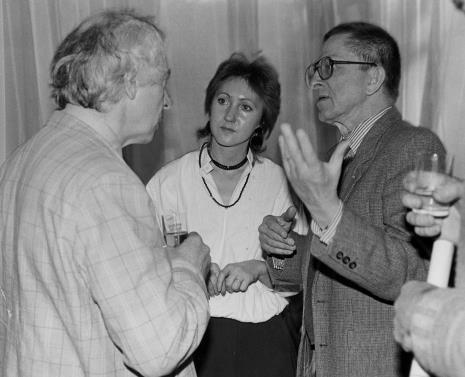 Od lewej Steve Poleskie, x, dyr. Ryszard Stanisławski (ms)