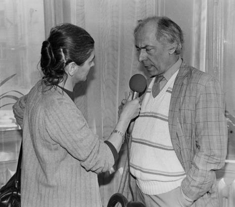Red. Krystyna Namysłowska (Polskie Radio) i Steve Poleskie