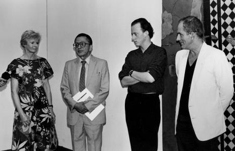 Od lewej Joan Hills, dyr. Ryszard Stanisławski (ms), Sebastian Boyle, Mark Boyle