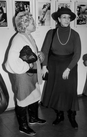 Od lewej wicedyrektor Muzeum Historii Miasta Łodzi i Eva Rubinstein