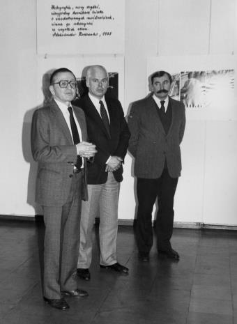 dyr. Ryszard Stanisławski (ms),  Jan Nosko (wiceprezydent Łodzi), Michał Walczak (Wojewódzki Konserwator Zabytków)