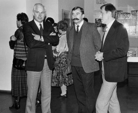 Od lewej Jan Nosko (wiceprezydent Łodzi), Michał Walczak (Wojewódzki Konserwator Zabytków), Grzegorz Kacprzak (wicedyrektor ms)