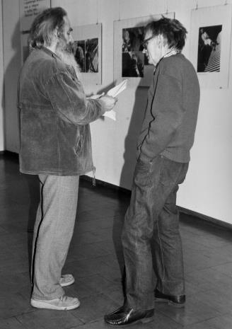 Dyr. Antoni Szram (Muzeum Kinematografii) i Stanisław Ibis-Gratokowski