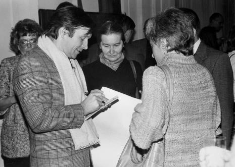 Od lewej red. Anna Iżykowska-Mironowicz (Głos Robotniczy), Zygmunt Krauze, Krystyna Krygier, Nika Strzemińska