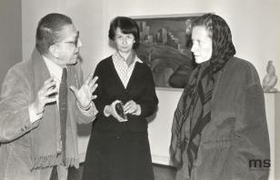 Od lewej dyr. Ryszard Stanisławski, Urszula Czartoryska (Dział Fotografii i Technik Wizualnych), Barbara Rose