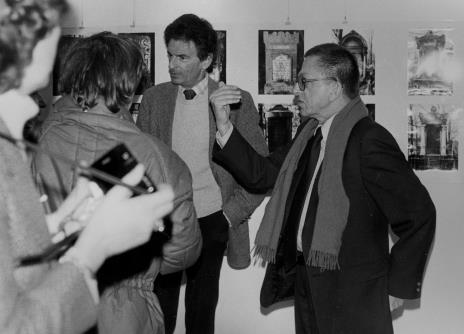 Jerzy Kosiński i dyr. Ryszard Stanisławski (ms)