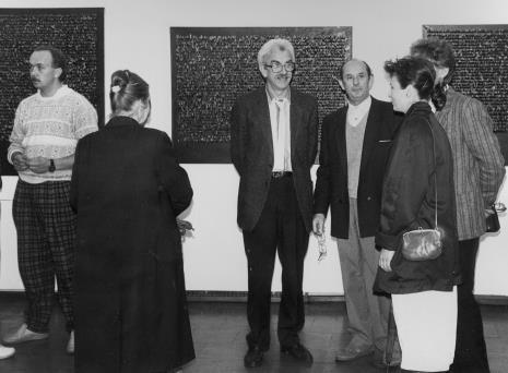 Od lewej x, Krystyna Krygier, Ryszard Hunger, Stefan Krygier, żona Andrzeja Szewczyka, Andrzej Gieraga