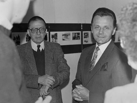 Dyr. Ryszard Stanisławski (ms) i Janusz Urbaniak (wiceprezydent Łodzi)