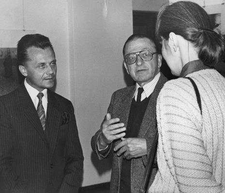 Janusz Urbaniak (wiceprezydent Łodzi) i dyr. Ryszard Stanisławski (ms) w rozmowie z Aleksandrą Mańczak