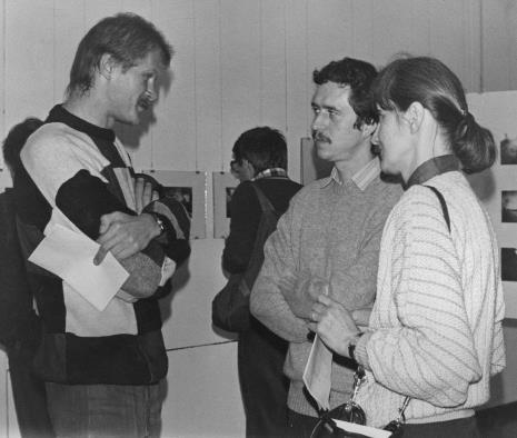 Od lewej Krzysztof J. Cichosz (Galeria FF w Łodzi), Krzysztof Jurecki (Dział Fotografii i Technik Wizualnych), Aleksandra Mańczak