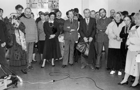 Od prawej x, Małgorzata Wiktorko (Dział Naukowo - Oświatowy), Marta Ertman (Dział Sztuki Polskiej), Lech Leszczyński (Wydział Kultury i Sztuki UMŁ)