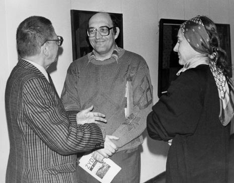 Od lewej dyr. Ryszard Stanisławski (ms), Mirosław Wojalski (autor książki o Ary Sternfeldzie), red. Krystyna Namysłowska (Polskie Radio)