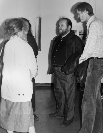 W środku Antoni Mikołajczyk, z prawej Krzysztof J. Cichosz (Galeria FF w Łodzi)