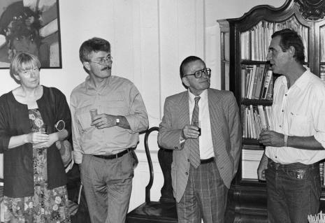 Od lewej x, x, dyr. Ryszard Stanisławski (ms), Tomasz Ciecierski