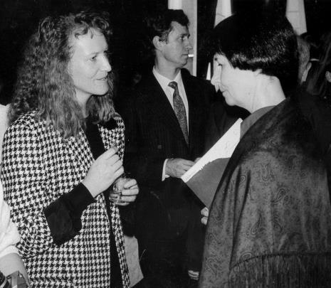 Komisarz wystawy dr Ursula Zeller, Grzegorz Palka (prezydent Łodzi), Urszula Czartoryska (Dział Fotografii i Technik Wizualnych)
