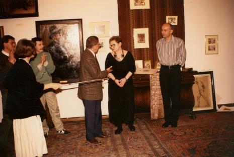 Od lewej x, red. Krystyna Namysłowska (Polskie Radio), x, dyr. Ryszard Stanisławski, Marta Ertman (Dział Sztuki Polskiej), dyr. Jaromir Jedliński