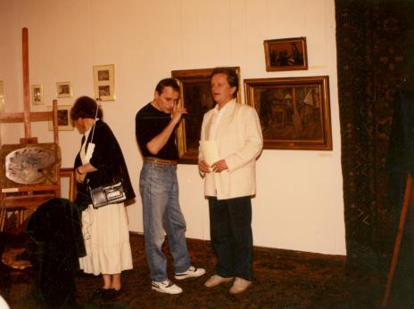 Od lewej red. Krystyna Namysłowska (Polskie Radio), x, dyr. Jacek Piwkowski (Wydziału Kultury UMŁ)