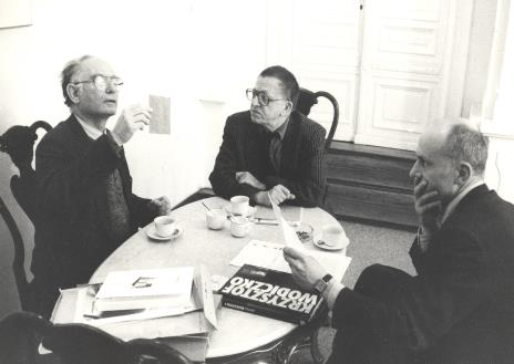 Dyr. Jaromir Jedliński, Yona Fischer (The Musum of Art w Tel Avivie), Ryszard Stanisławski