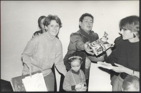 Od lewej zasłonięta Małgorzata Wiktorko (Dział Naukowo - Oświatowy), Katarzyna Jasińska (Dział Promocji), J. Rybicka (Kuratorium), Małgorzata Gaduła - Zawratyńska