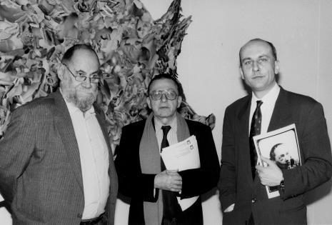 Od lewej Paweł Dłużniewski, Ryszard Stanisławski, dyr. Jaromir Jedliński (ms)