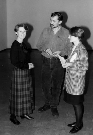 Od lewej Katarzyna Jasińska (Dział Promocji), Tomas Osinski, Małgorzata Mischke (późn. Gaudła-Zawratyńska, Dział Naukowo - Oświatowy)