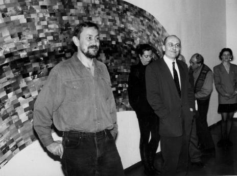 Od lewej Tomas Osinski, red. Beata Szuszwedyk (TVP), dyr. Jaromir Jedliński (ms), x, Maria Brewińska (Dział Naukowo – Oświatowy)