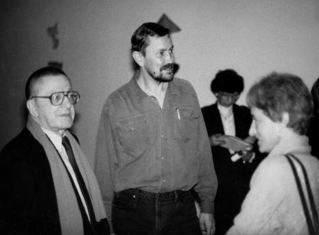 Od lewej Ryszard Stanisławski, Tomas Osinski, Nika Strzemińska