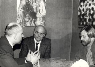 Wizyta Ryszarda Kapuścińskiego w Muzeum Sztuki oraz spotkanie w Rezydencji Księży Młyn pt. Wrażenia z podróży do byłego ZSRR