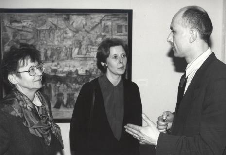 Marta Fik, Katarzyna Jasińska (Dział Promocji), dyr. Jaromir Jedliński  (ms)