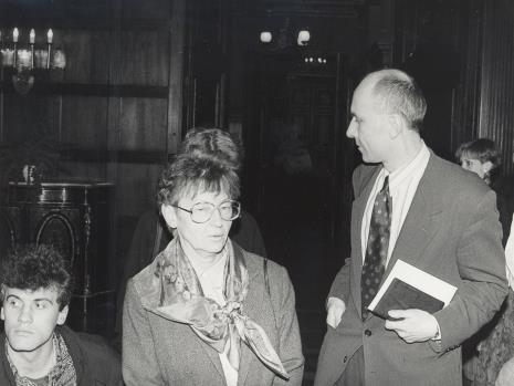 Od lewej x, Marta Fik, dyr. Jaromir Jedliński  (ms)