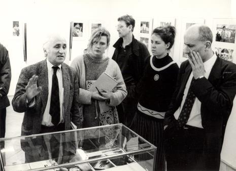 Pierwszy z lewej Richard Demarco, pierwszy z prawej dyr. Jaromir Jedliński (ms)