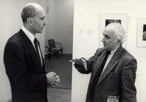 Dyr. Jaromir Jedliński (ms) i Richard Demarco
