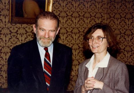 Prof. Bronisław Geremek, Joanna Bojarska (Dział Rysunku i Grafiki Nowoczesnej)