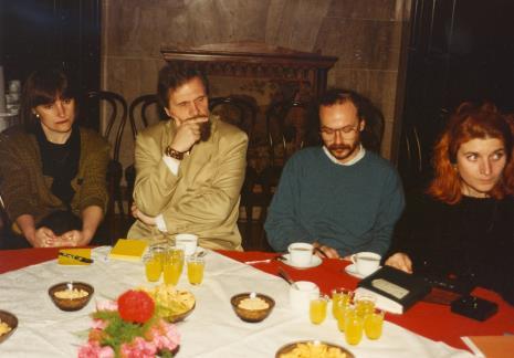 Od lewej x, dyr. Mieczysław Kuźniak (Muzeum Kinematografii w Łodzi), red. Michał Lenarciński (Wiadomości Dnia), red. Jacqueline Kacprzak (Polskie Radio)