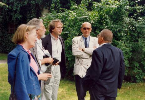 Od lewej x, x, Dyr. Christoph Brockhaus (Duisburger Wilhelm Lehmbruck Museum), dyr. Jaromir Jedliński (ms), Ryszard Stanisławski