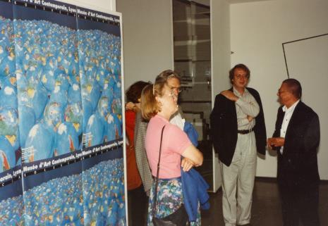 Od prawej Ryszard Stanisławski i dyr. Christoph Brockhaus (Duisburger Wilhelm Lehmbruck Museum)