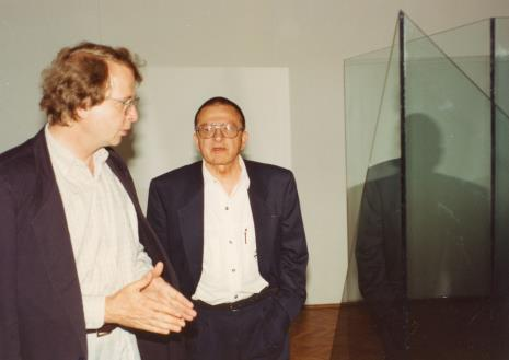 Dyr. Christoph Brockhaus (Duisburger Wilhelm Lehmbruck Museum) i Ryszard Stanisławski