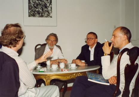 Od prawej dyr. Jaromir Jedliński (ms) i Ryszard Stanisławski